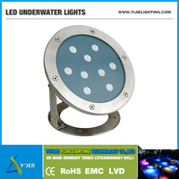 YJS-0004 IP68 high power 9W 18W round led under water swimming pool lights