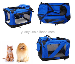 Pet Soft Crate Foldable Fabric pet dog cat carrier fabric dog carrier cage
