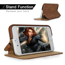 Arab Market Full Grain Oil Wax Leather Black Businessmen Phone Leather Case For Iphone6