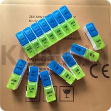 14 Compartment Doubel Row Detachable Pill Box
