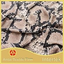 Wholesale nylon lycra printing fabric with snake skin pattern for swimwear/animal skin printed fabric