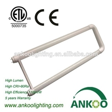 u shape fluorescent lamp led Tube 18W LED T8 tube light frosted /clear cover led tube with ETL,CE, RoHS