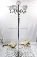 crystal bowl with stand wedding pillar/lighted metal wedding flower stands pillar/columns lightweight