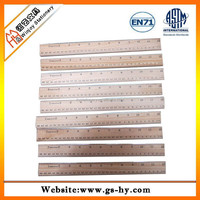 30cm size wooden ruler with metal edge