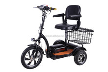 48v,500w three wheel electric scooter for elderly/electric mobility scooter with seat & reverse gear