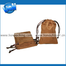 sweet soft suede pouch with drawstring