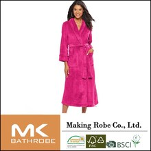 women Supersoft Long Robe female fleece lounge robe adults lounge wear