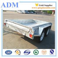 8x5 heavy duty fully welded tipping trailer tandem box trailer