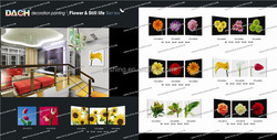 flower designs glass painting, Flower glass luxury wall picture for home, wall decoration pictures wholesale resta