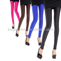 Hot Fashion Women's Fluorescent candy Stretchy Leggings Pants Trousers