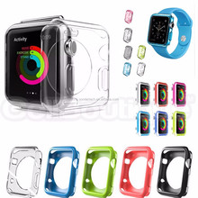 OEM TPU Silicone Gel Case Cover For Apple Watch Smart Watch 38mm 42mm Screen Guard