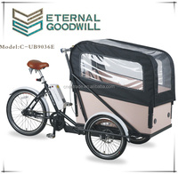 Adult 3 wheel electric bicycle7speeds bikes 36V 9A Li-ion electric cargobike/bakfiets/cargo bicycles UB9036E