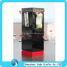 Acrylic showcase display stand wholesale acrylic case with lock acrylic rotating display case for retail