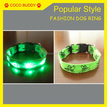 Professional Customized different patterns Led flashing pet dog collar , Mickey Mouse, Donald Duck, bear, Pluto