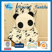 Printed Fleece Panda Blanket & Cushion