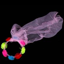 DJ-032yiwu caddy Delicate Wedding Fascinator Veil Feather Hard Yarn Headband Hats Women Brides Hair Accessories bulk
