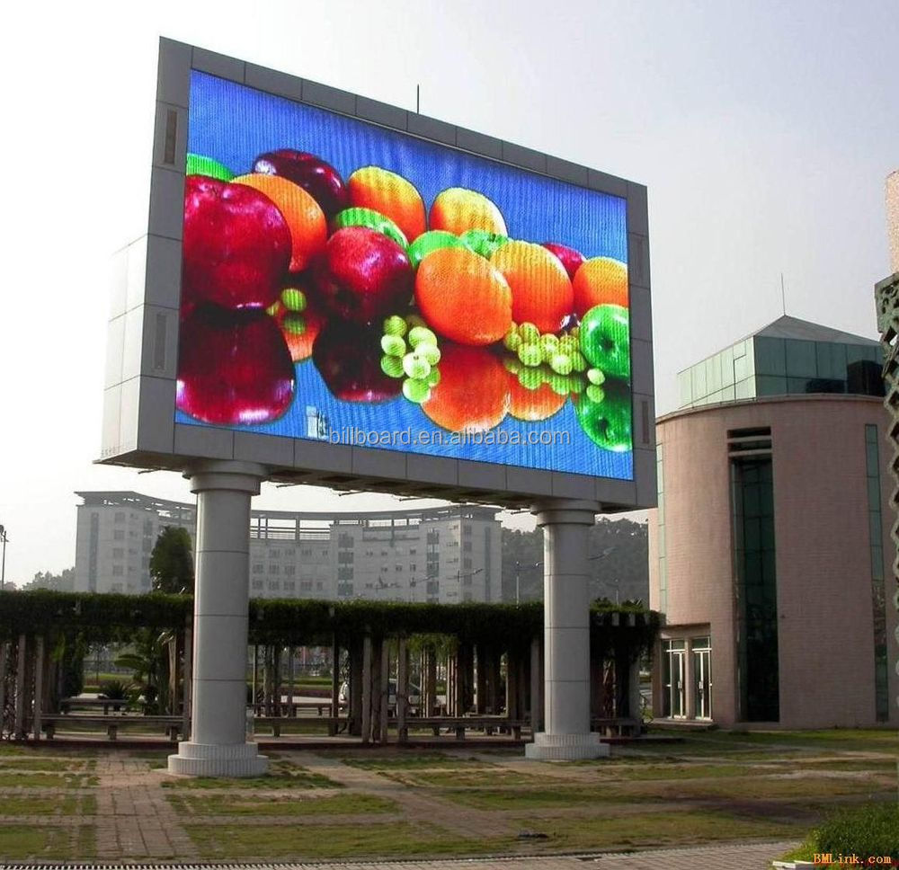 Nice quality steel outdoor advertising led screen for Exterior led screen