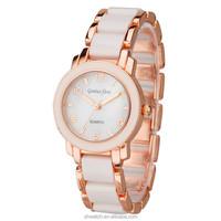 2015 vogue lady watch gold rose watch women bracelet wristwatch japan movt quartz watch stainless steel back