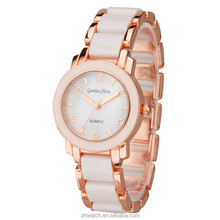 2015 vogue lady watch gold rose watch women bracelet wristwatch japan movt quartz watch stainless steel back