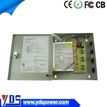 cctv equipment factory in china 60w 12v 6chs for security kits 5a power supply with ce fcc approved