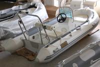 CE certificate rib390 rigid fiberglass hull inflatable boat