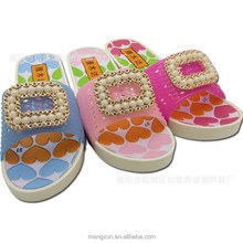 2015 new domestic PVC diamond ladies slippers wedges with outdoor slippers
