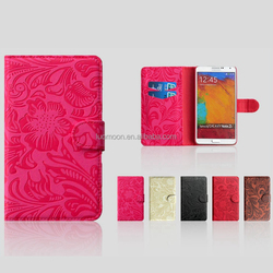 Flower Pattern PU Leather Case for Iphone4 Iphone 4S