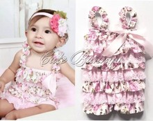 Baby Plain Romper Wholesale Lace and satin Rompers For Toddlers Lovely baby cheap lace rompers