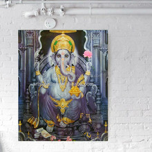 abstract oil painting of ganesha
