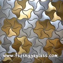 Modern Flower Shape Stainless Steel Metal Mosaic Tiles Foshan Factory