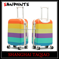 PC+ABS hard travel trolley case spinner luggage case for girls and boy