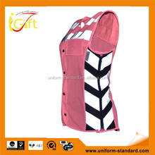 High quality roadway protective high visibility hotsale red safety vest