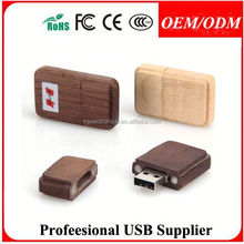 hot sale full capacity wooden usb memory stick , original forest wooden usb drive