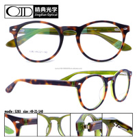 Top sale style optical frame Newest round eyewear Acetate frame fancy glasses 5283