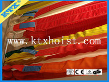 Top selling 7 times breaking force Synthetic fibre lifting straps/rigging webbing slings/ round slings/lifting belt