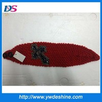 Latest designs fashion handcraft vitta wool headband wholesale TS-203