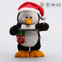 Christmas singing blue and black baby penguins for factory direct sale