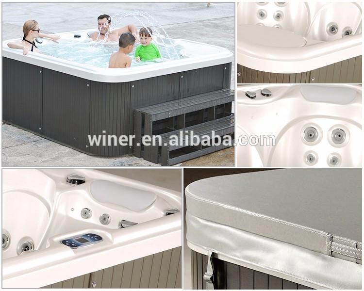 CE/IOS9001 approuvé gagnant 5 personne de luxe extérieure spa de nage badewanne massage bain à remous pour l'extérieur balboa ja