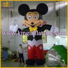 Grande inflable de dibujos animados de mickey, inflable de dibujos animados de la mascota para los niños