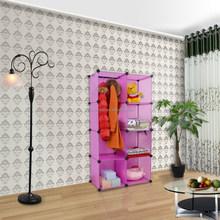 easy assemble plastic pink wardrobe storage (YK-1018)