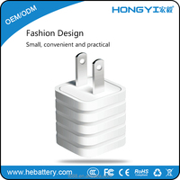 Factory selling wholesale Portable US Plug usb wall charger portable mobile phone charger