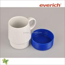 450ml white blank ceramic mug with handle and silicone pad