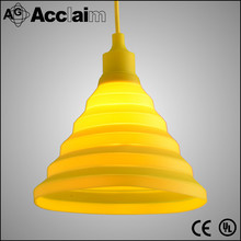 yellow color silicone hanging light for bedroom