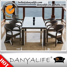 DYDS-D9810 Danyalife Synthetic Rattan Open Air Restaurant Dining Table and Chair