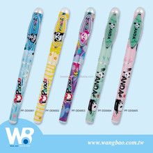 Panda plastic fountain and roller and ball pen