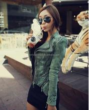 Fashion studded/retro rivet new denim jacket women cheap heavy krean green lady stud jean coat women 2015 guangzhou factory