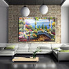Handmade Cheapest Price Best Service Landscape Garden View Oil Painting for Study Room Decoration