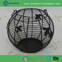 Handmade metal storage basket kitchen egg basket