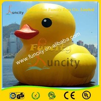 Logo printed custom size 0.6mm PVC tarpaulin inflatable yellow duck, giant inflatable yellow duck