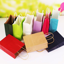 Eco-friendly Plain Kraft Paper Gift Bag Paper Shopping Bag(CZ-877)